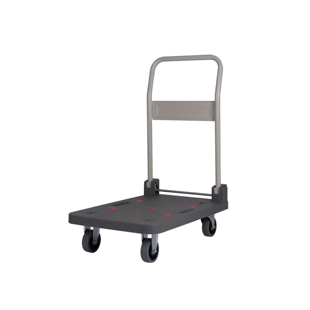 LQQFFGarden Trolley Four-Wheeled Portable Flatbed delivery car Heavy King Van Transport Trolley Size : 90x61x94.5cm