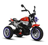 GetBest Nine-t 12V Battery operated Ride on Bike for Kids with hand Accelerator, Red