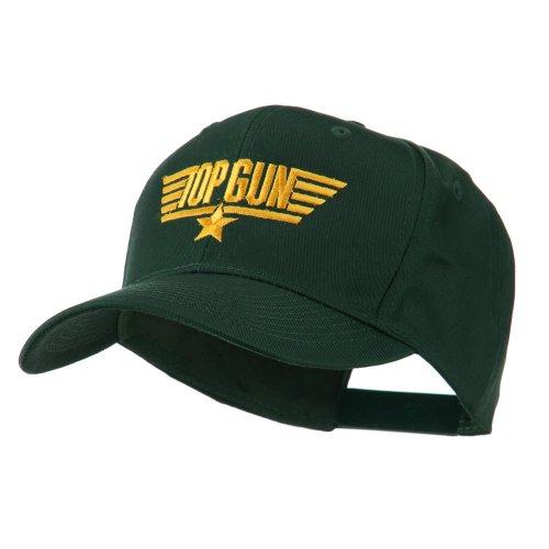 (US Navy Top Gun Logo Embroidered Cap - Green OSFM)