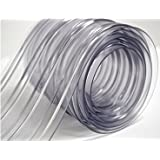 "150' Roll - 8"" Wide Ribbed PVC Plastic Strip Curtain for Walk In Coolers, Warehouse Doors and Clean Rooms"