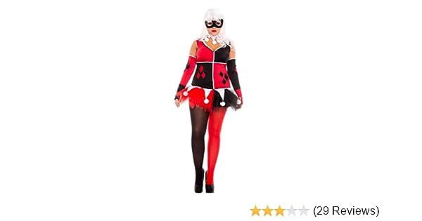 Music legs 7 piece womens Harlequin jester costume