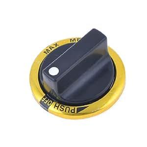 Plastic Gas Stove Range Knob Black Gold Tone