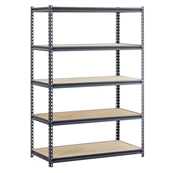 edsal urs 245 workforce heavy duty steel storage rack with 5 shelf 4000 lbs - Heavy Duty Storage Shelves