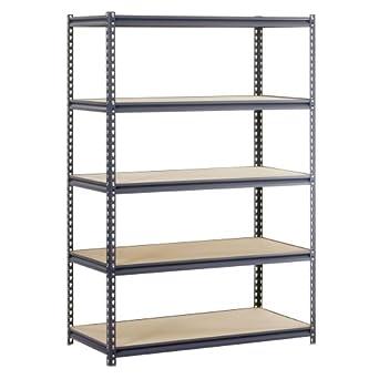 edsal urs 245 workforce heavy duty steel storage rack with. Black Bedroom Furniture Sets. Home Design Ideas
