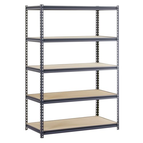 "Edsal URS-245 WorkForce Heavy Duty Steel Storage Rack with 5 Shelf, 4000 lbs Capacity, 48"" Width x 72"" Height x 24"" Depth, Gray from EDSAL"