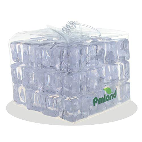 (PMLAND Acrylic Ice Cubes Square Shape 2 Lbs Bag, for Photography Props Kitchen Table Decoration Display Vase Filler Toy - Crystal)