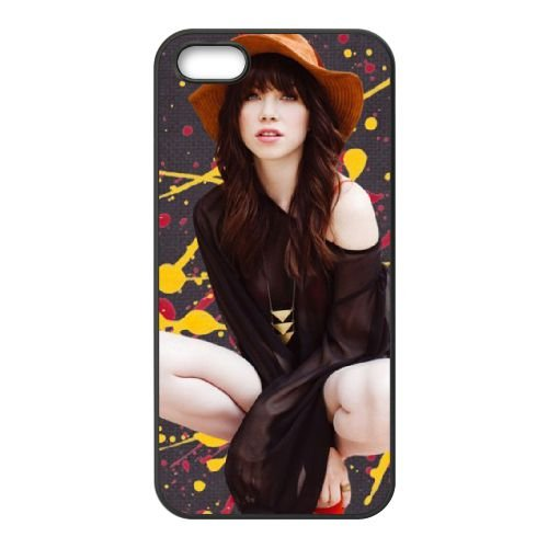 Carly Rae Jepsen coque iPhone 4 4S cellulaire cas coque de téléphone cas téléphone cellulaire noir couvercle EEEXLKNBC24038