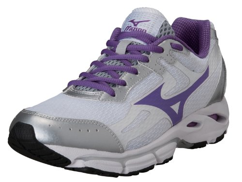 MIZUNO WAVE RESOLUTE 2 DONNA 2014 SCARPA RUNNING (bianco/viola/argento, 38)