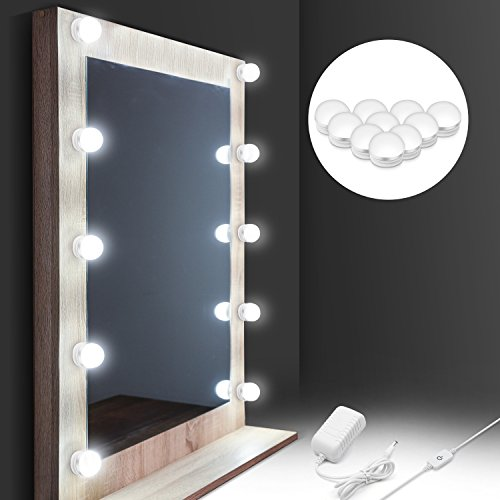 [2018 UPGRADED] Hollywood Style LED Vanity Mirror Lights Kit, Auledio Makeup light with 10 Dimmable Bulbs and Touch Dimmer for Makeup Vanity Table Set in Dressing Room (Mirror Not Include) by Auledio (Image #7)