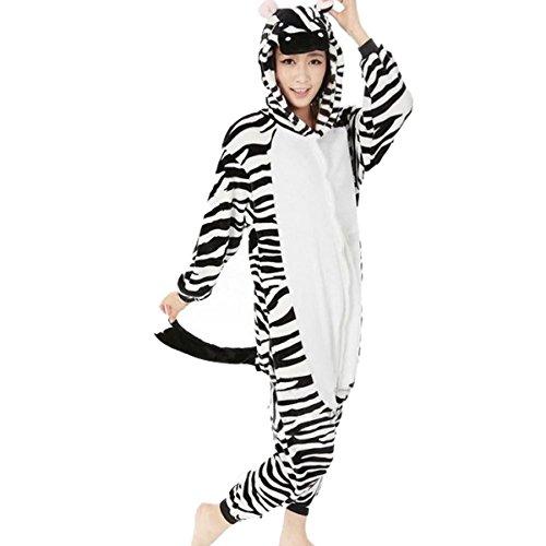 Rapidev Adult Warm Sleepwear Cosplay Pajamas Costume Homewear Lounge Wear (M, Zebra) (Zebra Costumes For Adults)