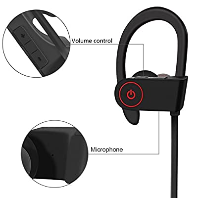 Sports Bluetooth Headphones Wireless Stereo Headsets with Mic Noise Cancelling Sweatproof Earphones