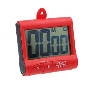 Kitchen Count Down - TOOGOO(R)Magnet Digital Kitchen Count Down Counter Timer Beeping Alarm Clock (Red)