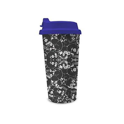 Halloween Inspiration With Skull Prints Double Wall Water Bottle With -