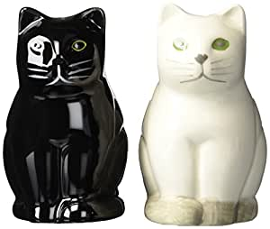 Abbott Collection Ceramic Cat Salt and Pepper Shakers (2 pieces)
