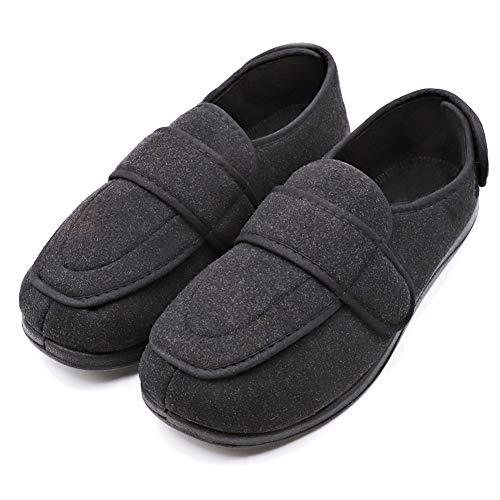 MEJORMEN Womens Diabetic & Edema Slippers Arthritis Nonslip Footwear Orthopedic Extra Wide Shoes with Adjustable Closures