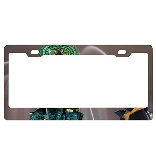 - License Plate Frame,Aluminum Metal License Plate Cover with Screw Caps - 2 Holes Auto Car License Tag Holder - Fountain at The Place De La Concorde