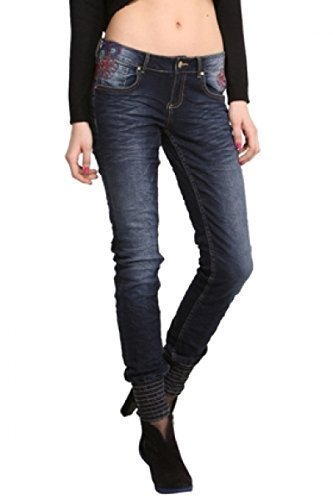 Desigual 50d26b5/5008 Mujer Jeans Modelo Punos Carry azul 32 ...