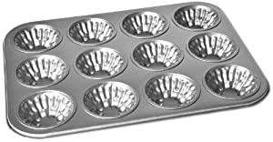 Chloe's Kitchen 203-173 12-Cup Muffin Pan Decorative, Non-Stick