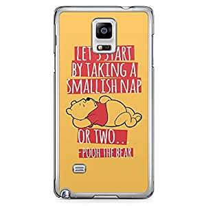 Loud Universe Pooh Nap Quote Samsung Note 4 Case Lazy Gift Samsung Note 4 Cover with Transparent Edges