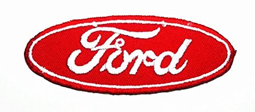 Red Ford Racing Car Automobile Rider Club Logo Applique Iron-on Patch Embroidered Sew T-shirt BY J.I.B. - Cartoon Iron Ons
