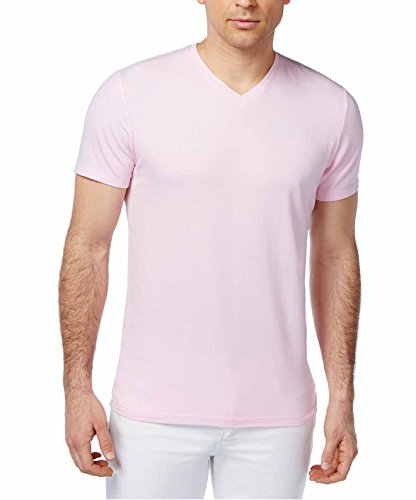 Alfani Red Men's Fitted V-Neck T-Shirt (Classic Pink, XL) from Alfani