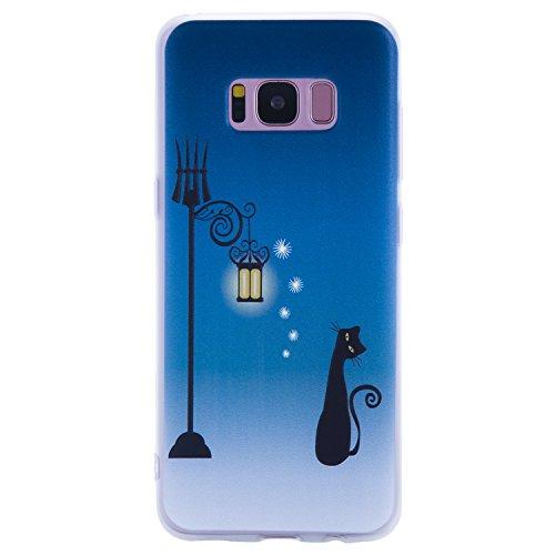 Funda para Samsung Galaxy S8 Carcasa S8 Anfire Silicona Flexible Alivio Textura Mate Gel TPU Suave Case Ultra Delgado Anti-Gota Anti Rasguños y Anti Slip Bumper Cover para Samsung Galaxy S8 [5.8 Pulga Gato de la Calle
