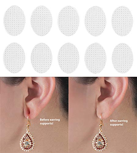 Wonder Support and Stabilizer Patches for Earrings, 100 Pieces (Hook Earrings Cross French)