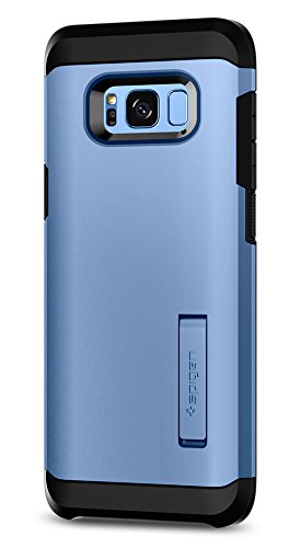 Price comparison product image Spigen Tough Armor Galaxy S8 Case with Kickstand and Extreme Heavy Duty Protection and Air Cushion Technology for Samsung Galaxy S8 (2017) - Coral Blue