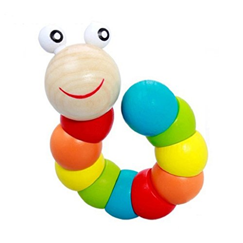 Worm Puzzle Wooden Toy (Multicolor) - 5