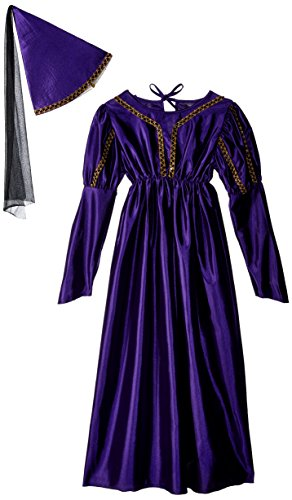 RG Costumes Girls 91066-V-L Medieval Princess Costume, Purple, Large (12-14)