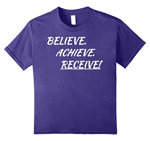 Kids Believe Achieve Receive Self Help T-Shirt|Life Coach Tshirt 12 Purple