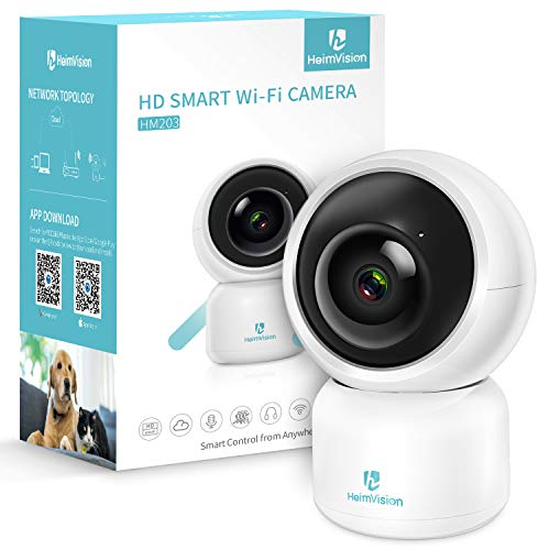 heimvision HM203 1080P Security Camera with Smart Night Vision/Ptz/Two-Way Audio, 2.4GHz Wireless Home Surveillance IP Camera for Baby/Elder/Pet/Nanny Monitor, Cloud Service/Microsd Support