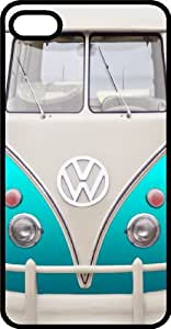 Classic Teal VW Bus Van Tinted Rubber Case for Apple iPhone 5 or iPhone 5s