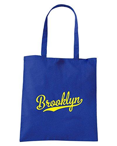 T-Shirtshock - Bolsa para la compra FUN0876 brooklyn dodger baseball script t shirt Azul Real