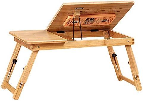 GY Mesa Plegable, Mesa Plegable portátil de bambú for computadora ...