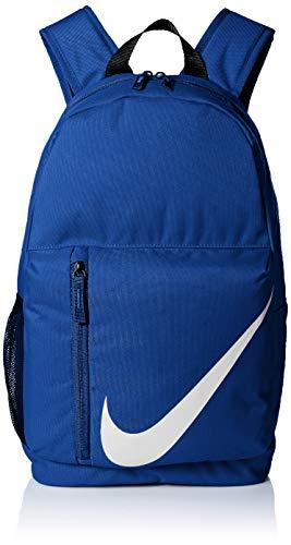 Nike Kids' Elemental Backpack, Kids' Backpack with Comfort and Secure Storage, Indigo Force/Fuel Orange/Vast