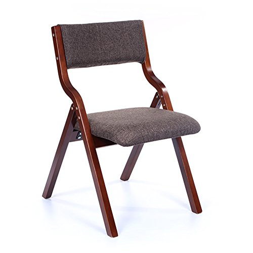 Amazon.com: Silla plegable tapizada de madera para casa ...