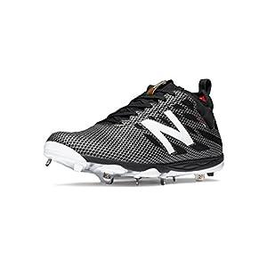 New Balance LowCut 406 Mens Metal Baseball Cleat 10.5 Black-Silver