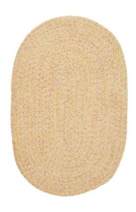 Colonial Mills West Bay Banana Tweed 5ft x (Bay Chenille Braided Rug)