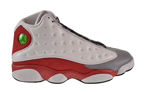 Air 13 Retro Men's Shoes White/Black - True Red - Cement Grey Leather Basketball Shoes 9.5 D(M) US=43EU (Retro 13 Cement Grey)