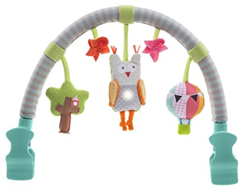 Taf Toys Musical Arch | Best For Infant And Toddlers' That Fits To Stroller & Pram, Activity Bar With Hanging Musical Owl Toy, Easier Outdoors And Easier Parenting, Keeps Your Baby Happy, Ideal Gift Soft Stroller Bar