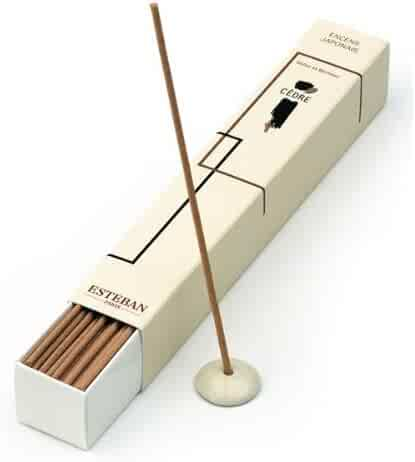 Esteban Cedre Japanese Incense Sticks 40 Incense Sticks