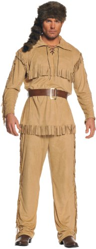 Underwraps Men's Frontier Man, Tan/Brown, One Size