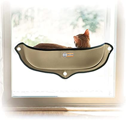 K&H EZ Mount Window Bed Kitty Sill, Tan