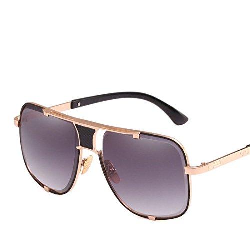 C de Gafas de Personalidad B GUO El Hombre Gafas metálico de Sol Sol Cuadrado 0fORYq