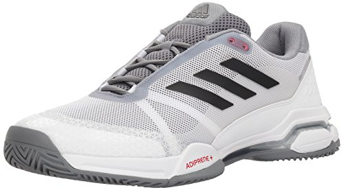Court Mens Jacket - adidas Performance Men's Barricade Club Tennis Shoe, White/Black/Grey, 12.5 M US