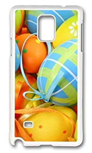 MOKSHOP Adorable Easter Egg Decorations Hard Case Protective Shell Cell Phone Cover For Samsung Galaxy Note 4 - PC White