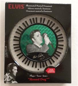 - NEW ELVIS PRESLEY Illuminated Musical Christmas Ornament HOUND DOG