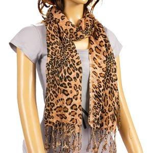 f504d9936f69 Foulard echarpe cache col motif leopard marron 178cm  Amazon.fr ...
