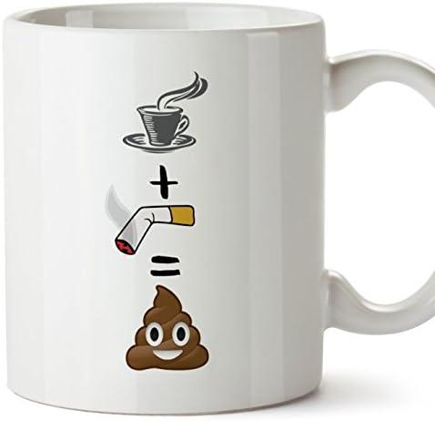 MUGFFINS Tasse pour le petit-déjeuner originale et amusante. Café/clope/toilette Tasses avec un message rigolo. Cadeau pour amies ou à offrir a la famille.